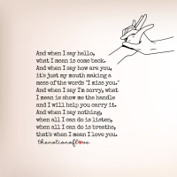 There is I love you in silence